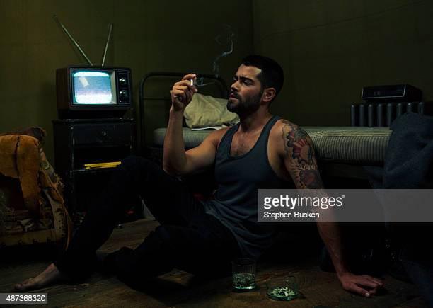 Actor Jesse Metcalfe is photographed for Glamoholic on January 20 2015 in Hollywood California