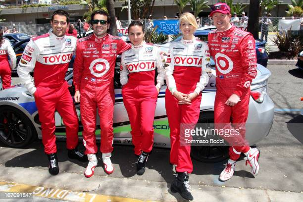 Actor Jesse Metcalfe NASCAR Driver Dario Franchitti actresses Kate Del Castillo Jenna Elfman and racecar driver Scott Dixon attends the 37th Annual...