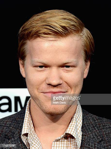 Actor Jesse Plemons arrives as AMC Celebrates the final episodes of Breaking Bad at Sony Pictures Studios on July 24 2013 in Culver City California