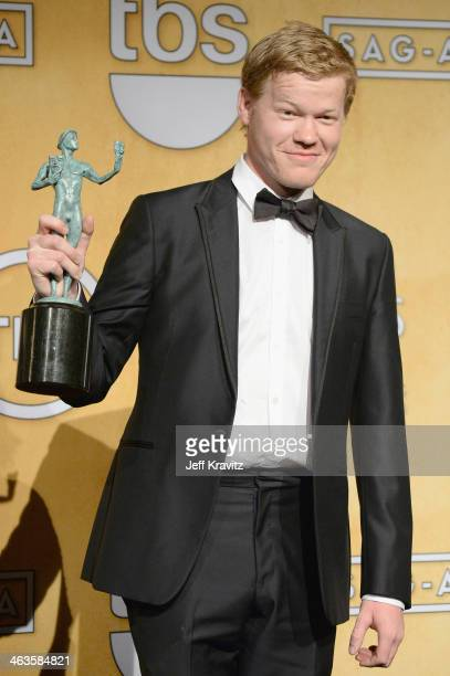 Actor Jesse Plemons poses in the press room during the 20th Annual Screen Actors Guild Awards at The Shrine Auditorium on January 18 2014 in Los...