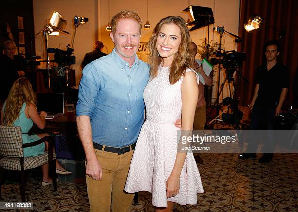 Actor Jesse Tyler Ferguson and Allison Williams attend the Variety Studio powered by Samsung Galaxy on May 28 2014 in West Hollywood California
