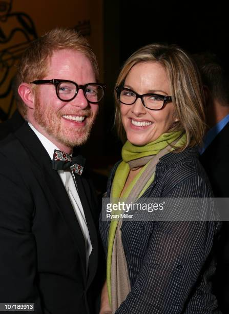 Actor Jesse Tyler Ferguson and cast member Alice Ripley pose during the party for the opening night launch of the National Tour of Next to Normal at...