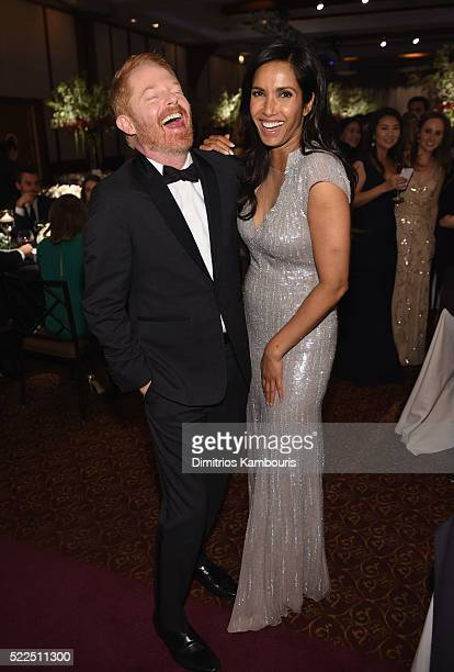 Actor Jesse Tyler Ferguson and EFA cofounder and host Padma Lakshmi attend the 8th Annual Blossom Ball benefiting the Endometriosis Foundation of...