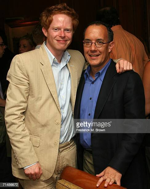 Actor Jesse Tyler Ferguson and executive producer David Crane from the show The Class pose at the 2006 Summer Television Critics Association Press...