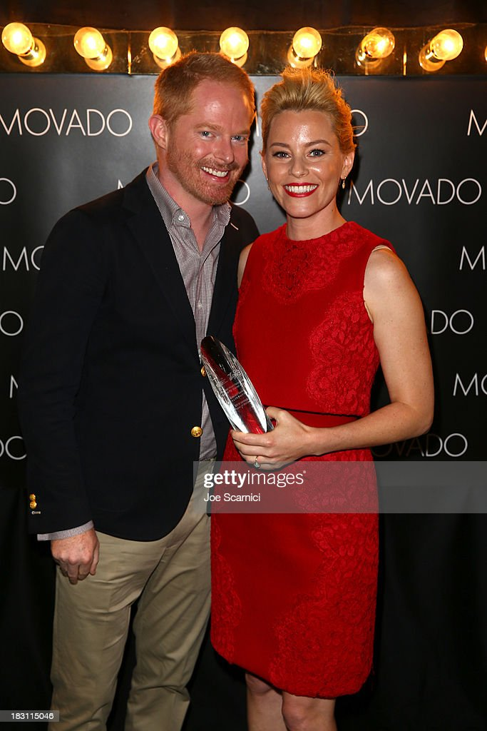 Actor Jesse Tyler Ferguson and honoree Elizabeth Banks attend Variety's 5th Annual Power of Women event presented by Lifetime at the Beverly Wilshire Four Seasons Hotel on October 4, 2013 in Beverly Hills, California.