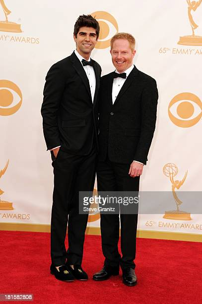 Actor Jesse Tyler Ferguson and Justin Mikita arrive at the 65th Annual Primetime Emmy Awards held at Nokia Theatre LA Live on September 22 2013 in...