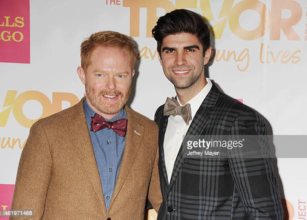 Actor Jesse Tyler Ferguson and Justin Mikita arrive at TrevorLIVE Los Angeles at Hollywood Palladium on December 7 2014 in Los Angeles California