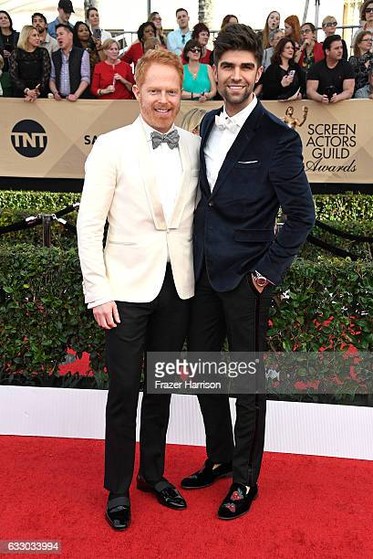 Actor Jesse Tyler Ferguson and Justin Mikita attend The 23rd Annual Screen Actors Guild Awards at The Shrine Auditorium on January 29 2017 in Los...