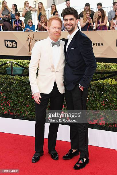 Actor Jesse Tyler Ferguson and Justin Mikita attend the 23rd Annual Screen Actors Guild Awards at The Shrine Expo Hall on January 29 2017 in Los...