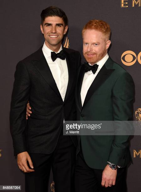 Actor Jesse Tyler Ferguson and Justin Mikita attend the 69th Annual Primetime Emmy Awards at Microsoft Theater on September 17 2017 in Los Angeles...