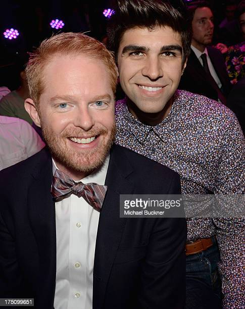 Actor Jesse Tyler Ferguson and Justin Mikita attend the DoSomethingorg and VH1's 2013 Do Something Awards at Avalon on July 31 2013 in Hollywood...