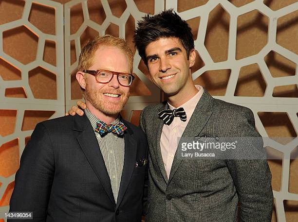 Actor Jesse Tyler Ferguson and Justin Mikita attend the PEOPLE/TIME Party on the eve of the White House Correspondents' Dinner on April 27 2012 in...