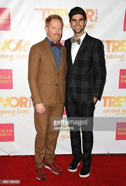 Actor Jesse Tyler Ferguson and Justin Mikita attend TrevorLIVE Los Angeles at the Hollywood Palladium on December 7 2014 in Los Angeles California