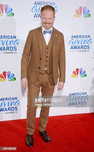 Actor Jesse Tyler Ferguson arrives at the American Giving Awards at Dorothy Chandler Pavilion on December 9 2011 in Los Angeles California