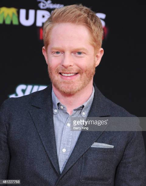 Actor Jesse Tyler Ferguson arrives at the Los Angeles premiere of 'Muppets Most Wanted' on March 11, 2014 at the El Capitan Theatre in Hollywood,...
