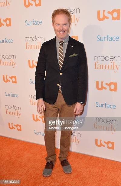 Actor Jesse Tyler Ferguson attends USA Network's 'Modern Family' fan appreciation day at Westwood Village on October 28 2013 in Los Angeles California