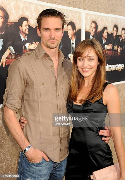 Actor Jesse Warren and wife actress Autumn Reeser arrives on the red carpet to HBO's official premiere of Entourage Season 6 held at Paramount...