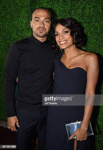 Actor Jesse Williams and actress Rosario Dawson attend the 20th annual Critics' Choice Movie Awards at the Hollywood Palladium on January 15 2015 in...