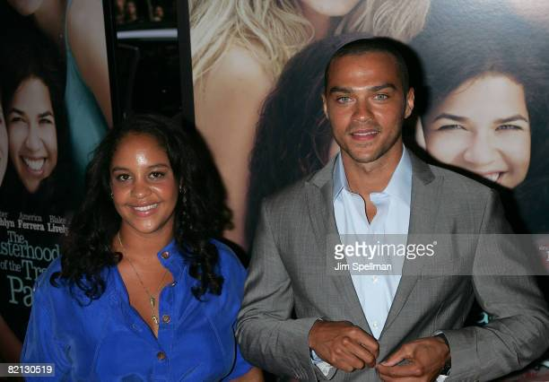 """Actor Jesse Williams and Aryn Drake-Lee attend the premiere of """"The Sisterhood of the Traveling Pants 2"""" at the Ziegfeld Theatre on July 28, 2008 in..."""