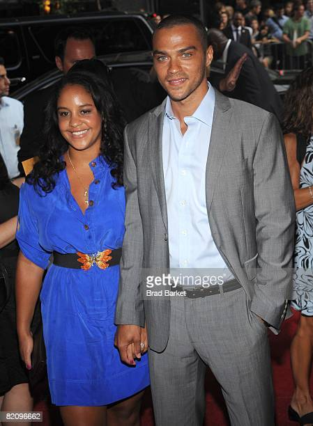 """Actor Jesse Williams and Aryn Drake-Lee attend the world premiere of """"The Sisterhood Of The Traveling Pants 2"""" presented by Warner Bros. Pictures at..."""