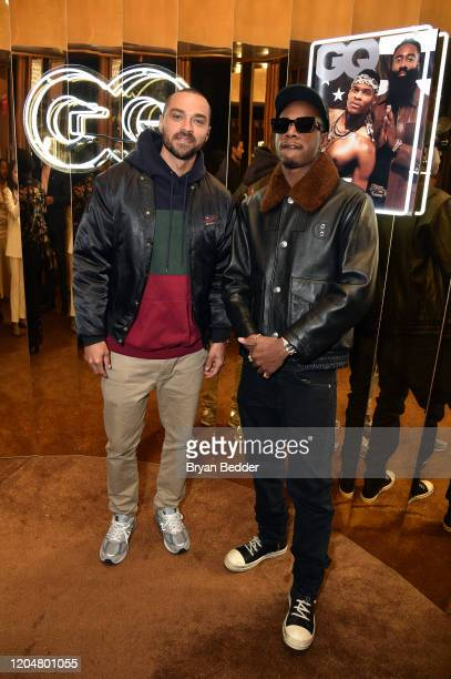 Actor Jesse Williams and Joey Badass attend the GQ March 2020 Cover Party at The Standard Highline on March 01 2020 in New York City