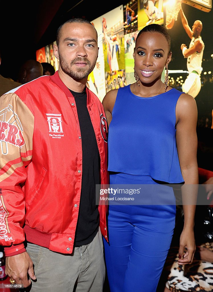 Actor Jesse Williams and Singer Kelly Rowland attend ESPN The Magazine's 'NEXT' Event at Tad Gormley Stadium on February 1, 2013 in New Orleans, Louisiana.