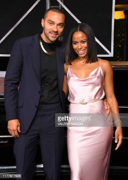 US actor Jesse Williams and Taylour Paige arrive for the Los Angeles premiere of Netflix's The Irishman at the Chinese theatre in Hollywood on...