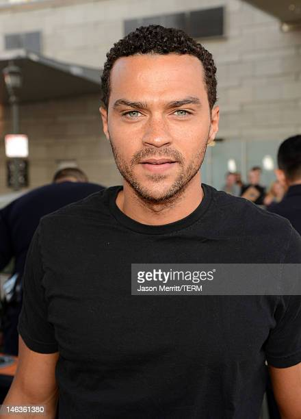 Actor Jesse Williams arrives at Film Independent's 2012 Los Angeles Film Festival Premiere of Sony Pictures Classics' To Rome With Love at Regal...