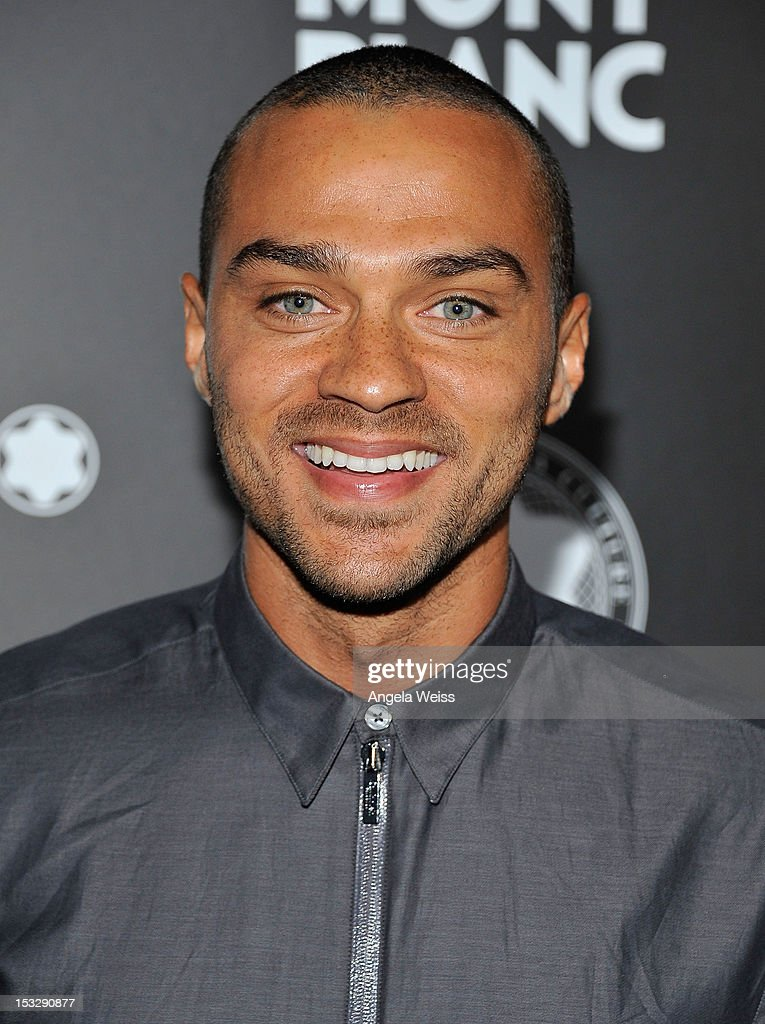 Actor Jesse Williams arrives at Montblanc's 2012 Montblanc de la Culture Arts Patronage Award Ceremony honoring Quincy Jones at Chateau Marmont on October 2, 2012 in Los Angeles, California.