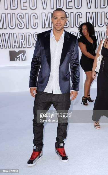 Actor Jesse Williams arrives at the 2010 MTV Video Music Awards held at Nokia Theatre LA Live on September 12 2010 in Los Angeles California