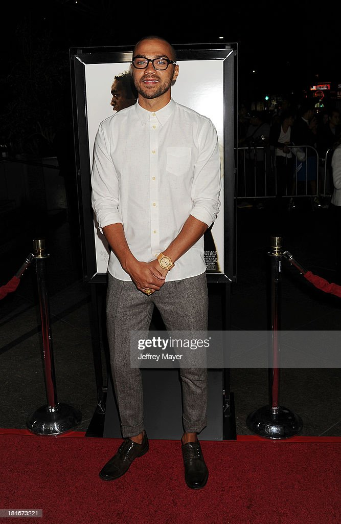 Actor Jesse Williams arrives at the Los Angeles premiere of '12 Years A Slave' at Directors Guild Of America on October 14, 2013 in Los Angeles, California.
