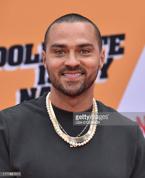 US actor Jesse Williams arrives for the premiere of Netflix's Dolemite Is My Name at Village Theatre in Westwood California on September 28 2019