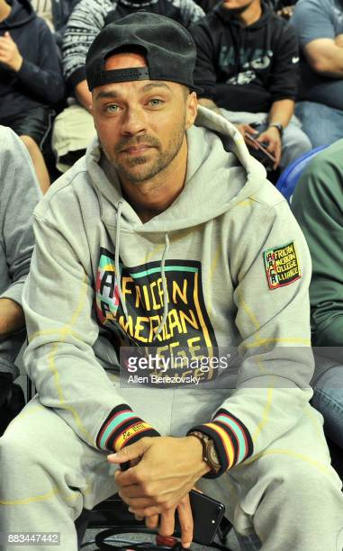 Actor Jesse Williams attends a basketball game between the Los Angeles Clippers and the Utah Jazz at Staples Center on November 30 2017 in Los...