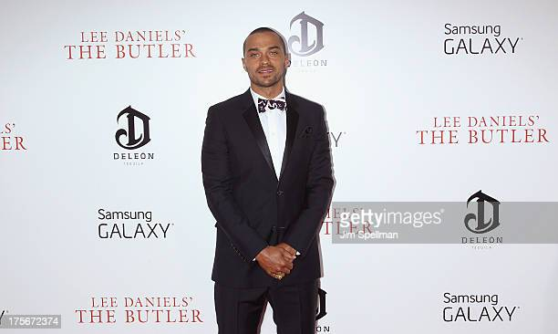 Actor Jesse Williams attends Lee Daniels' The Butler New York Premiere at Ziegfeld Theater on August 5 2013 in New York City