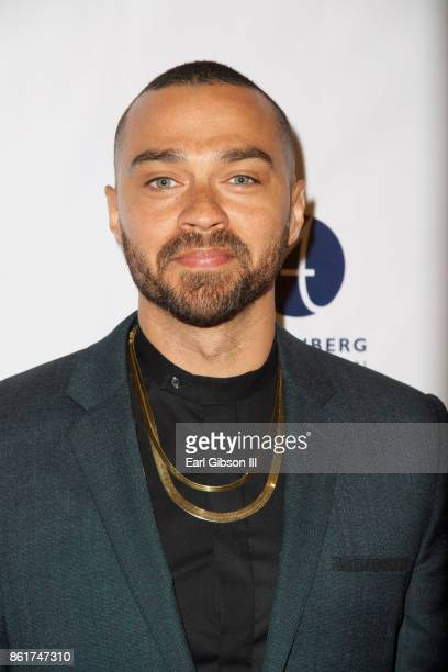 Actor Jesse Williams attends Sunday matinee of 'Turn Me Loose' at Wallis Annenberg Center for the Performing Arts on October 15 2017 in Beverly Hills...
