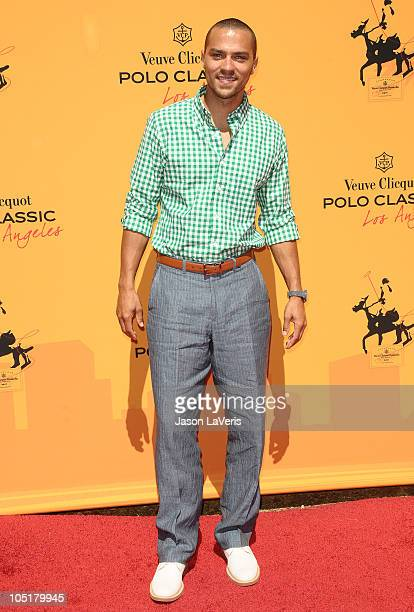 Actor Jesse Williams attends the 1st annual Veuve Clicquot Polo Classic at Will Rogers State Historic Park on October 10 2010 in Pacific Palisades...