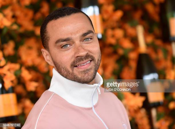 US actor Jesse Williams attends the 9th Annual Veuve Clicquot Polo Classic in Los Angeles California on October 6 2018