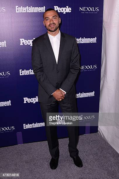 Actor Jesse Williams attends the Entertainment Weekly and PEOPLE celebration of The New York Upfronts at The Highline Hotel on May 11 2015 in New...