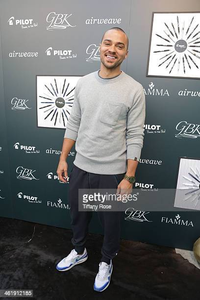 Actor Jesse Williams attends the GBK Pilot Pen PreGolden Globe Gift Lounge on January 11 2014 in Beverly Hills California
