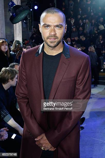 Actor Jesse Williams attends the Lanvin Menswear Fall/Winter 20172018 show as part of Paris Fashion Week on January 22 2017 in Paris France