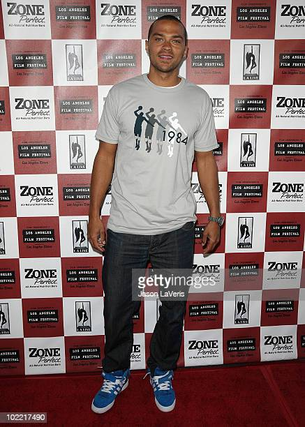 Actor Jesse Williams attends the premiere of 'Cyrus' at Regal 14 at LA Live Downtown on June 18 2010 in Los Angeles California