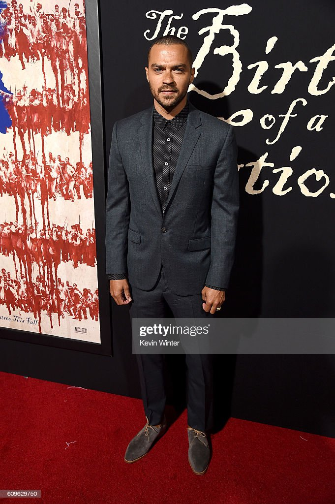 Actor Jesse Williams attends the premiere of Fox Searchlight Pictures' 'The Birth of a Nation' at ArcLight Cinemas Cinerama Dome on September 21, 2016 in Hollywood, California.