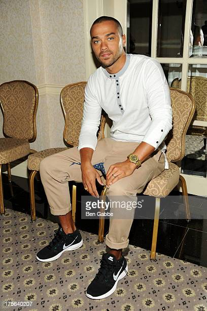 Actor Jesse Williams attends the press conference for The Weinstein Company's LEE DANIELS' THE BUTLER at Waldorf Astoria Hotel on August 5 2013 in...