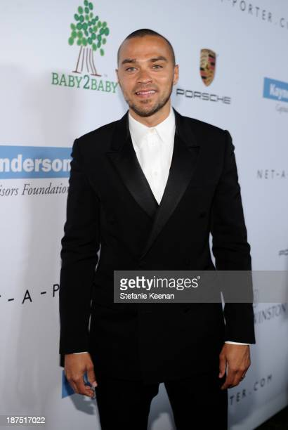 Actor Jesse Williams attends the second annual Baby2Baby Gala honoring Drew Barrymore at Book Bindery on November 9 2013 in Culver City California