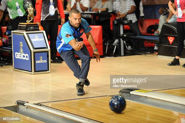 Actor Jesse Williams bowls in the 6th Annual CP3 PBA Celebrity Invitational presented by AMF hosted by LA Clippers allstar guard Chris Paul at AMF...