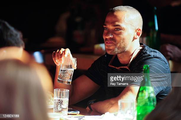 Actor Jesse Williams dines at Da Silvano restaurant on September 13 2011 in New York City
