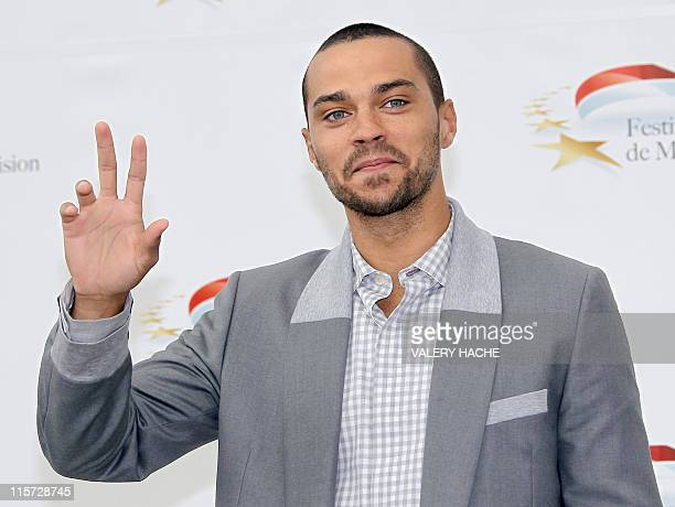 US actor Jesse Williams poses during a photocall for the TV show Grey's Anatomy as part of the 2011 Monte Carlo Television Festival held at the...