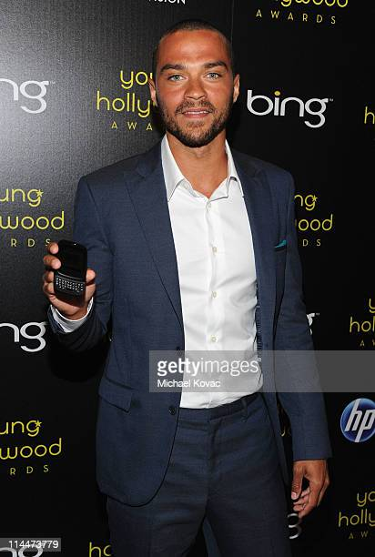 Actor Jesse Williams, recipient of the TV Actor of the Year Award presented by HP Veer attends the 2011 Young Hollywood Awards presented by Bing at...