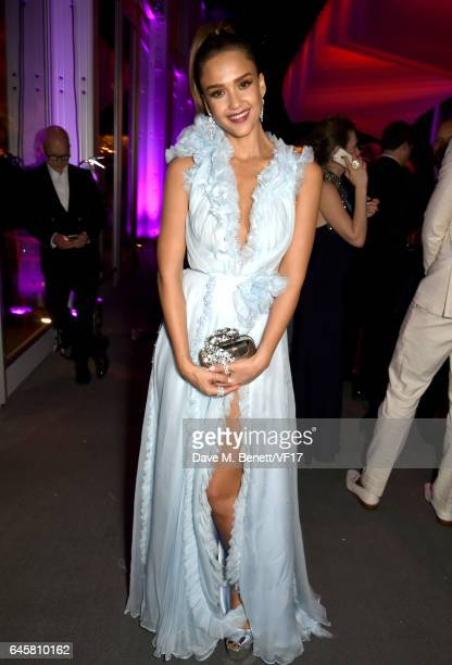 Actor Jessica Alba attends the 2017 Vanity Fair Oscar Party hosted by Graydon Carter at Wallis Annenberg Center for the Performing Arts on February...
