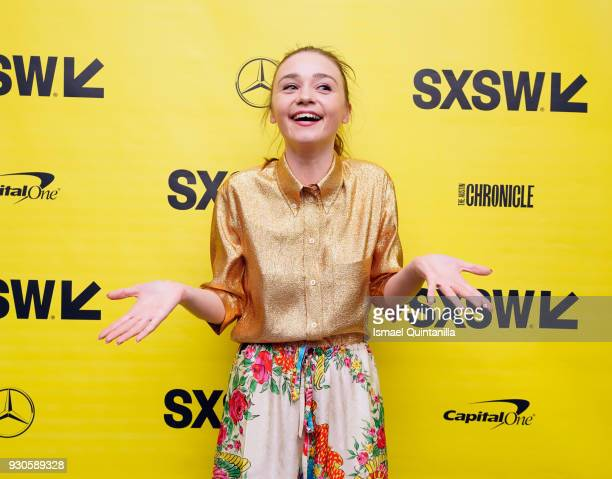 Actor Jessica Barden attends the premiere of The New Romantic during SXSW at Stateside Theater on March 11 2018 in Austin Texas